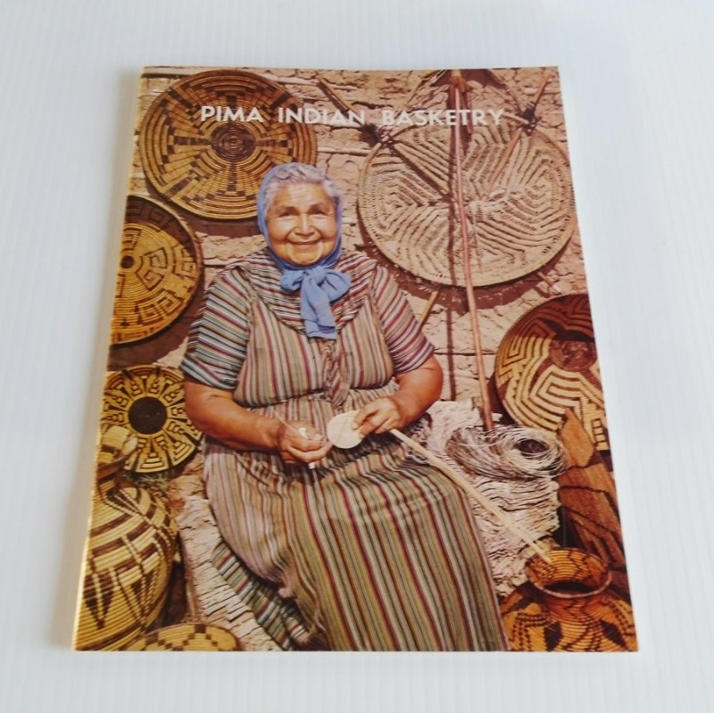 Pima Indian Basketry, Heard Museum Phoenix. History of Pima Basketry, describing the history and meanings of designs used. 40 pages illustrated.