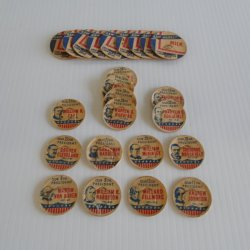 Milk Bottle Pull Tops, 1950s, 24 Presidents and Raw Market