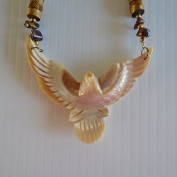 '.Mother of Pearl Eagle Necklace.'
