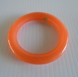 Givenchy Orange Lucite Bangle Bracelet