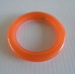 Givenchy Orange Lucite Bangle Bracelet