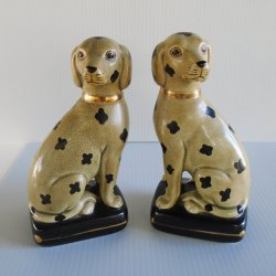 Takahashi Dalmatian Statue Bookends, Set of 2, Japan