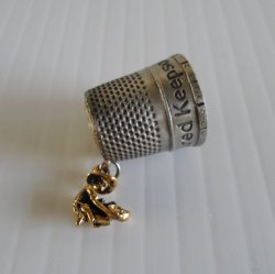 Virginia City Nevada Gold Miner Collectible Thimble