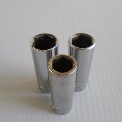 Craftsman Sockets 3/8 Dr 6 point Tall. 15, 17, 19 mm, 3 pcs