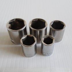 Craftsman Sockets 3/8 Dr 6 pt short 5 pcs, 7/16 to 13/16