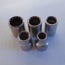 Craftsman Sockets 3/8 Dr 12 pt 5 pcs. 5/16 3/8 7/16 1/2 9/16