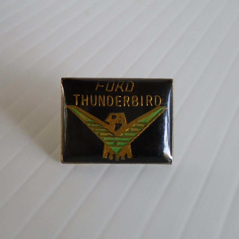 Ford Thunderbird, T Bird, T-Bird emblem lapel pin. Can also be used as a hat pin or a tie tack. At least 30 years old. Estate find.