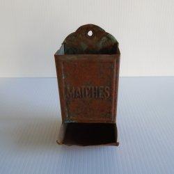 Match Stick Holder Safe, Vintage Antique, c1940s, Rustic