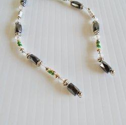 '.Hematite Lariat Necklace.'
