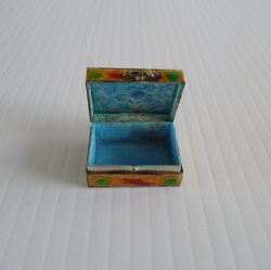 '.Pill Box, Metal, circa 1950s.'