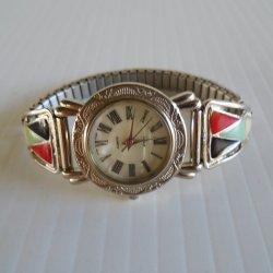 Collezie Silvertone Southwest Style Ladies Watch, Vintage