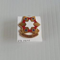 6th U.S. Army DUI Insignia Pin, Born of War
