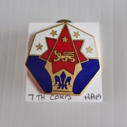 '.7th Army Command Corp pin.'