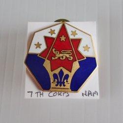 7th U. S. Army Corps Command DUI Insignia Pin, Vietnam era