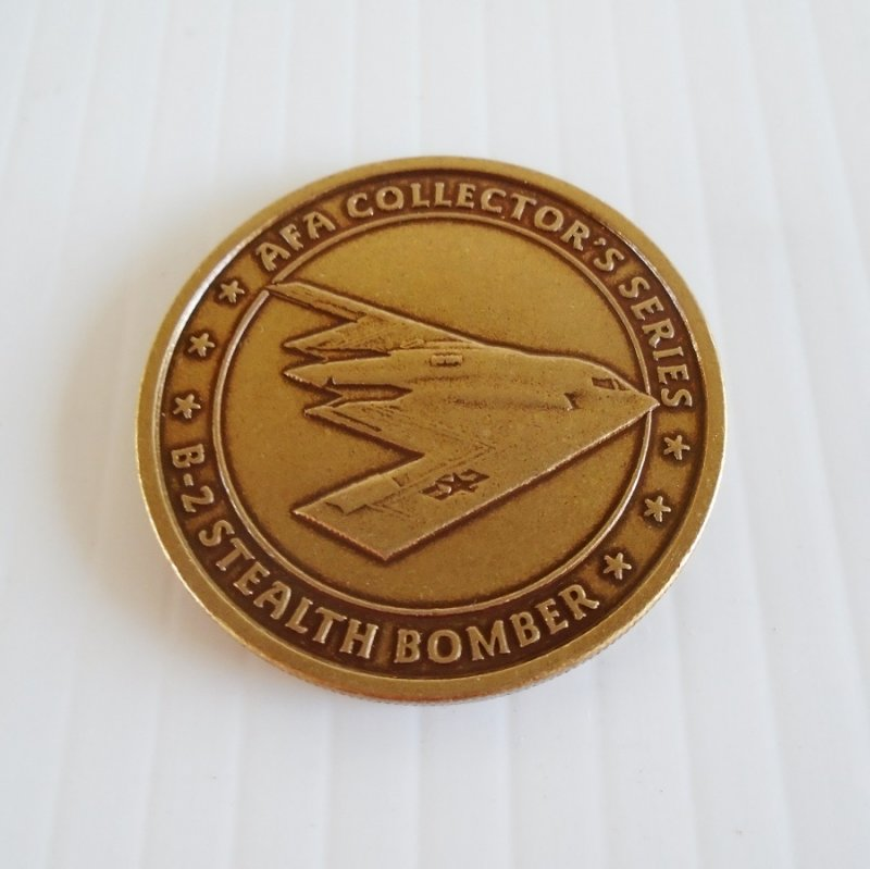 Air Force Association AFA B-2 Stealth Bomber Bronze Challenge Token Coin