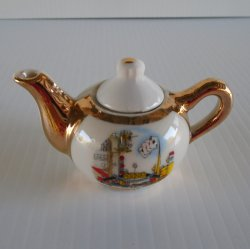 Vintage Reno NV Mini Teapot Biggest Little City Virginia St