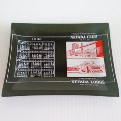 Glass Plate Dated 1965, Nevada Club Reno Nevada Lodge Tahoe