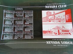 '.Nevada Club Reno 1965 plate.'