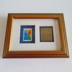 Breast Cancer Awareness Find A Cure Framed Postal Stamp 1998