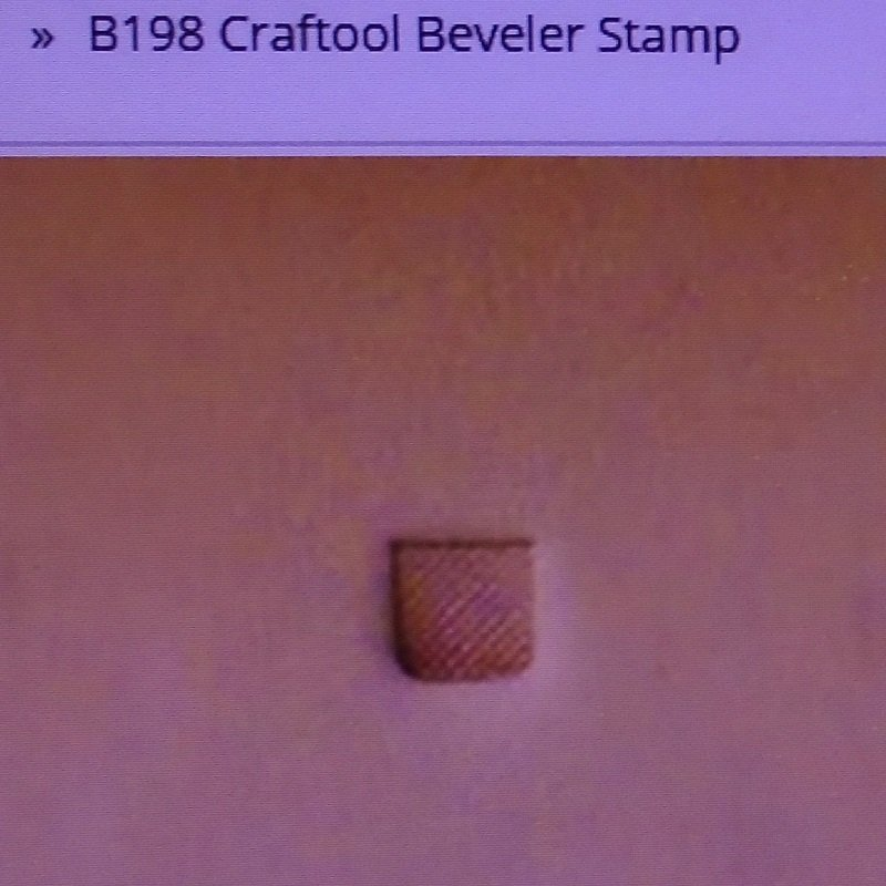 Tandy Leather crafting beveler stamp. Craftool B198, Tandy 6198-00. For making effects around your designs. New, never used.