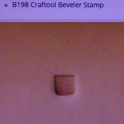Tandy Leather Craftool B198 Beveler Stamp 6198-00