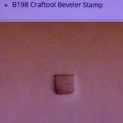 Tandy Leather Craftool B198 Beveler Stamp 6198-00