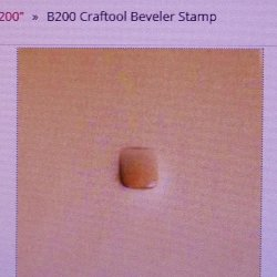 Tandy Leather Craftool B200 Beveler Design Stamp 6200-00