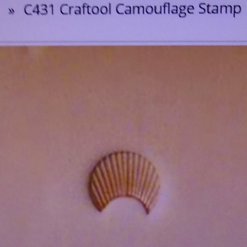 Tandy Leather crafting camouflage cam stamp. Craftool C431, Tandy 6431-00. New, never used.