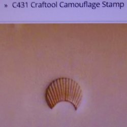 Tandy Leather Craftool C431 Camouflage Cam Stamp 6431-00