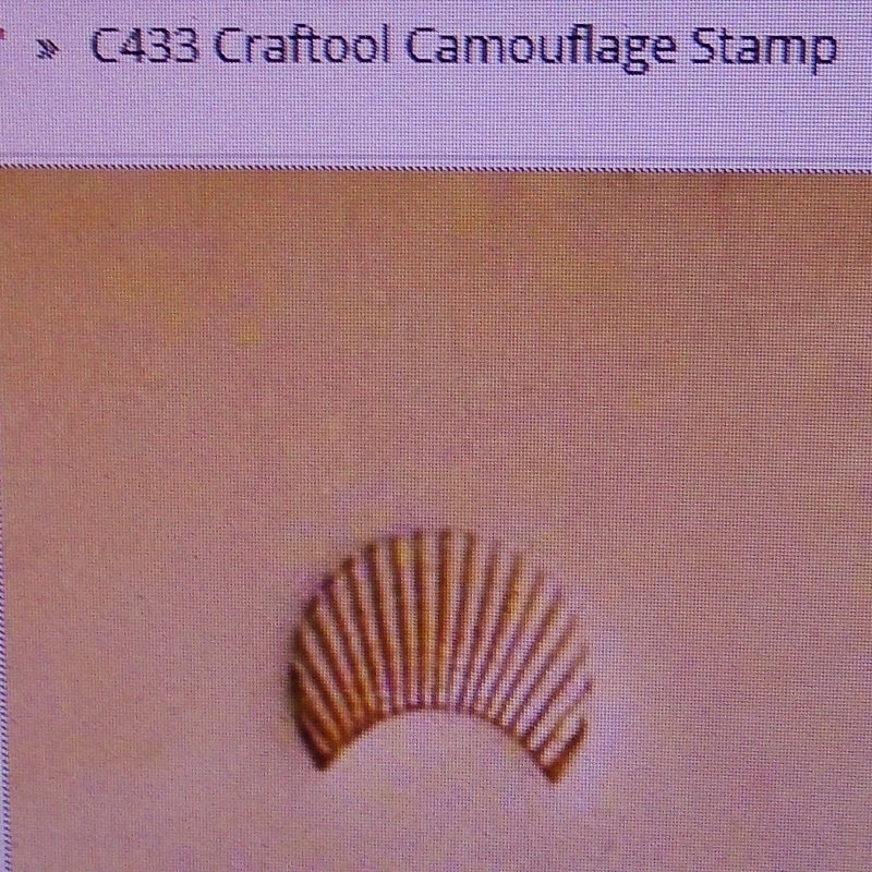 Tandy leather crafting camouflage stamp. Craftool C433 Tandy 6433-00. Never used.