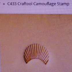 Tandy Leather Craftool C433 Camouflage Design Stamp 6433-00
