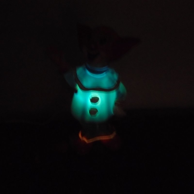 Bozo The Clown Table Top Night Light Vintage 1950s 1960s