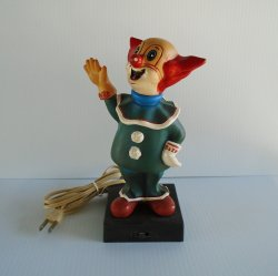 Bozo the Clown Table Top Night Light, Vintage 1950s - 1960s