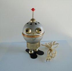 Alien Man Table Top Night Light, Vintage Mid Century Robot