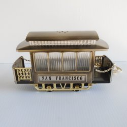 San Francisco Trolley Cable Car Night Light Lamp Mid Century