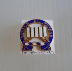 7th Infantry Vietnam Volens ET Potens DUI Insignia Pin