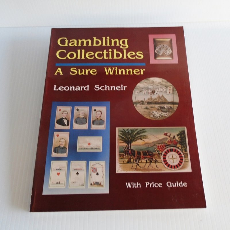 Gambling Collectibles research book by Leonard Schneir. Over 400 color photos with explanations and histories on almost every collectible gaming item