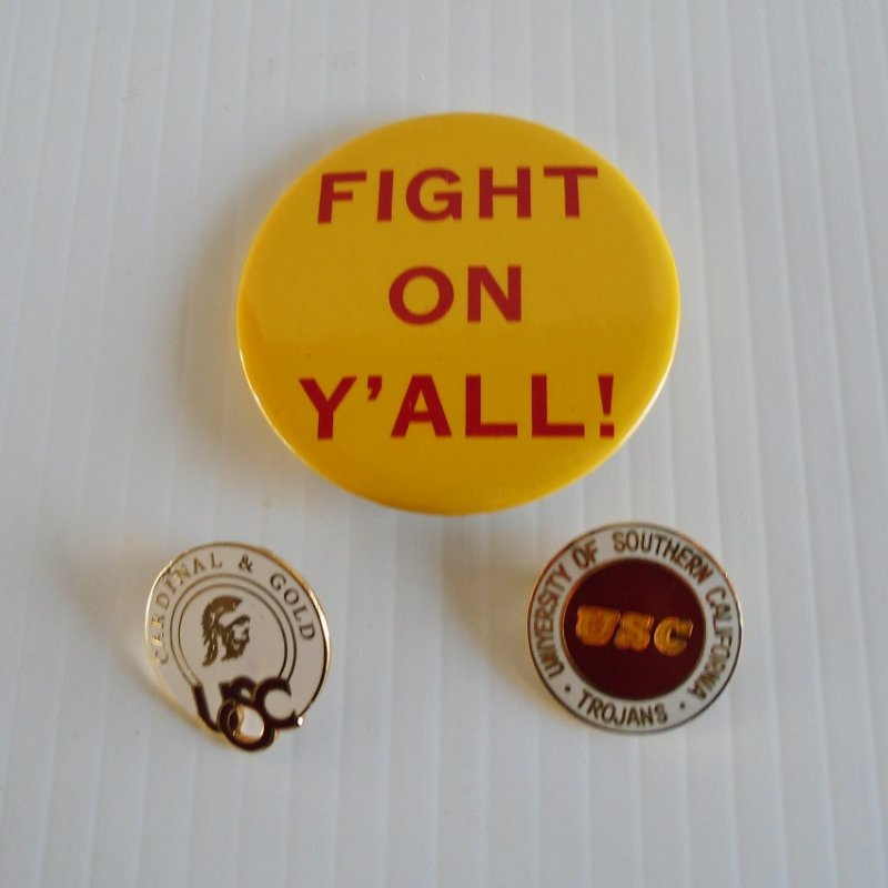 3 USC Trojan lapel pins. University of Southern California. Estate find.