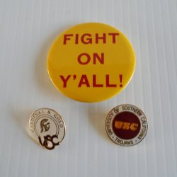 University of Southern California, USC 3 Hat or Lapel Pins