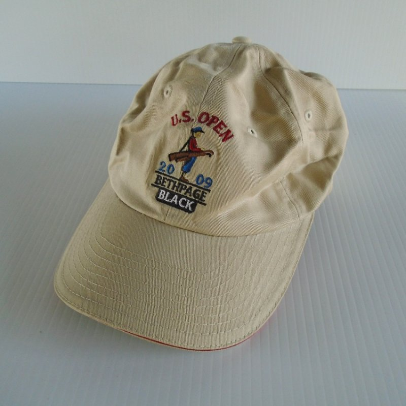 USGA Member Golf Cap From U.S. Open at Bethpage Black. Dated 2009. Strapback closure for size adjustment. Appears to never be worn.