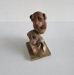 Puppy Dogs Resting in a Shoe Statue, 2 Dogs
