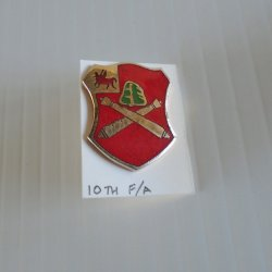 10th U.S. Army Field Artillery DUI Insignia Pin