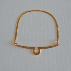 Giorgio Brutini Tie Bar with Chain, Goldtone, Vintage