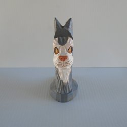 '.Cat head business card holder.'