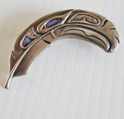 Duri Brooch, Possibly Seattle Seahawks or Eagle Feather