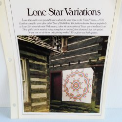 '.Lone Star Variations Quilt Pat.'