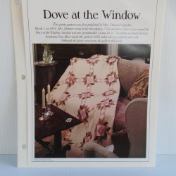 '.Dove at the Window Quilt Patte.'