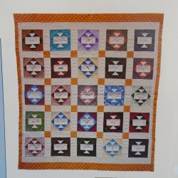 Friendship Album Quilt Pattern with Stencil Templates