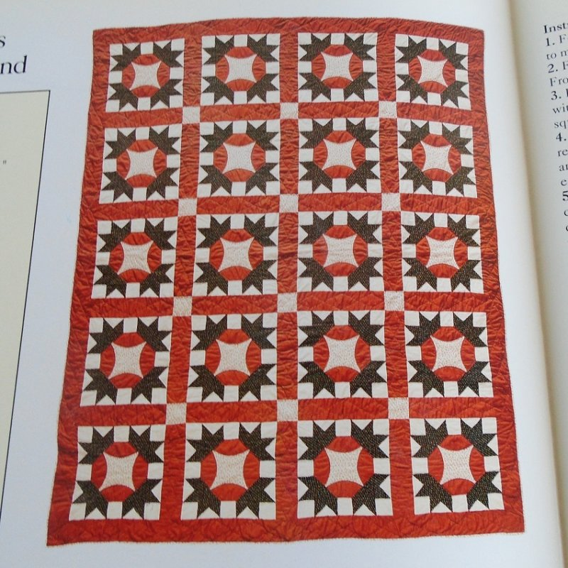 Quilting pattern and actual size template to make the quilt 'Hands All Around'. With info on sizes, colors, how many pieces to make, placement, etc