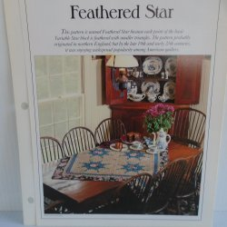 '.Feathered Star Quilt Pattern.'